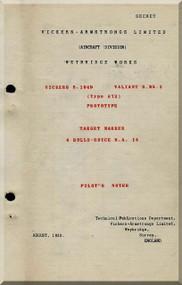 Vickers Valiant B Mk.2   Aircraft  Pilot's Notes Manual