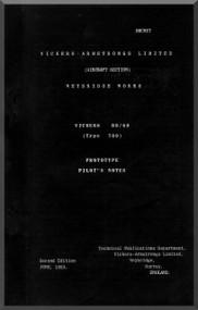 Vickers Valiant 89  / 48 ( Type 709 )  Aircraft  Pilot's Notes Manual