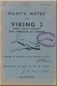 Vickers Viking  Aircraft  Pilot's Notes Manual 1948