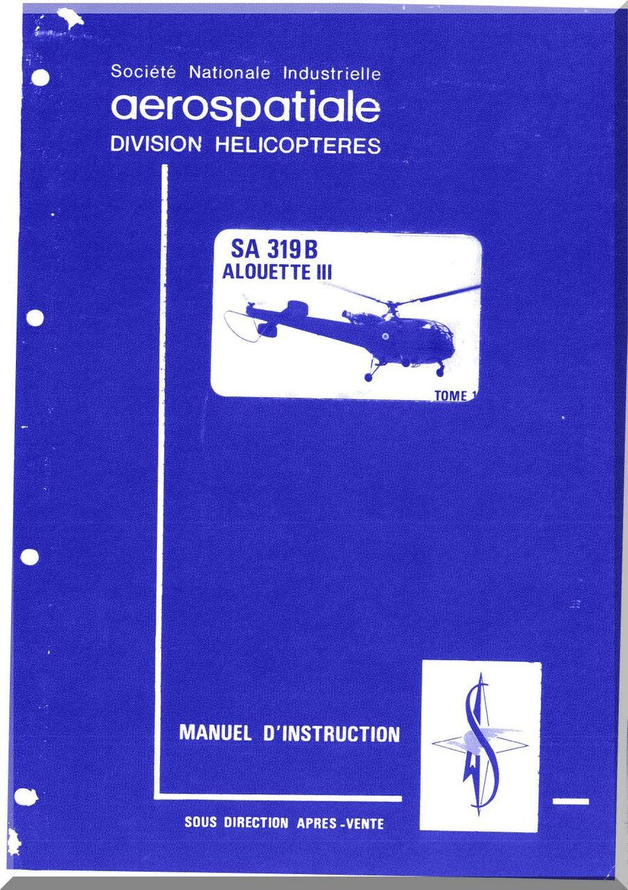 flight manual alouette helicopter