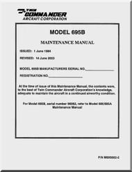 Aero Commander 695 B Maintenance  Manual