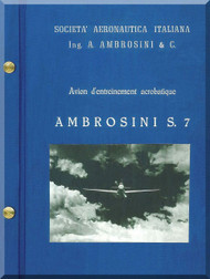 Ambrosini S.7 Aircraft Technical Manual, ( French Language )  1953
