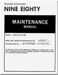 Aero Commander 695  98 Aircraft Maintenance  Manual