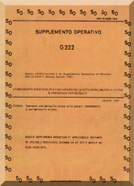 Aeritalia / FIAT G-222 Aircraft Flight  Supplement Manual, Supplemento Operativo ( Italian Language ) AER  1C-G222-5-51 , 1982