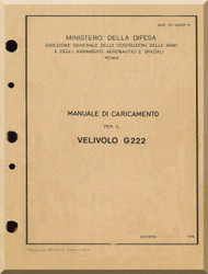 Aeritalia / FIAT G-222 Aircraft Loading  Maintenance Manual, ( Italian Language ) AER  1C-G222-2-9 ,