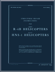 Sikorsky R-4 HNS-1 Helicopter Structural Repair Manual - 01-230H-3