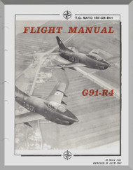 Aeritalia / FIAT G-91  R4 Aircraft Flight  Manual, ( English Language ) NATO 1RF-G91-R4-1 , 1961