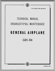 Aeritalia / FIAT G-91 R3 Aircraft Maintenance Manual, - General Airplane ( English Language ) GAf 1F-G91-R4-2-1 , 1961