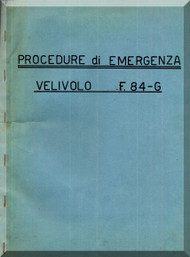 FIAT Republic F-84 Aircraft Emergency Procedure Manual