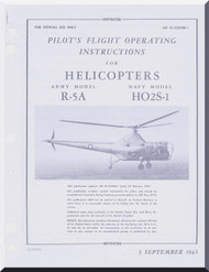 Sikorsky R-5A , HO2S-1  Helicopter Flight Manual   , AN 01-230HCB-1 , 1945