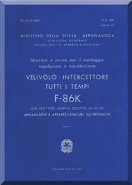 FIAT / NAA F-86 K Aircraft Maintenance Manual - Weapon Vol.10
