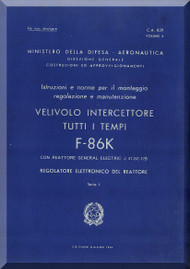 FIAT / NAA F-86 K Aircraft Maintenance Manual - REG ELC REA - Vol. 4