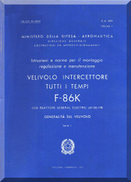 FIAT / NAA F-86 K Aircraft Maintenance Manual - General- Vol. 1
