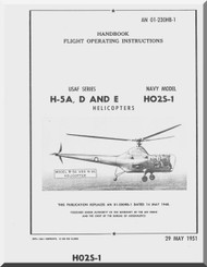 Sikorsky H-5 A D  HO2S-1 Helicopter Flight  Manual