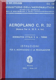FIAT CR.32  Aircraft Maintenance Manual - 1934