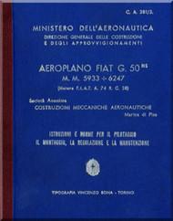 FIAT G.50 Aircraft Flight  Manual