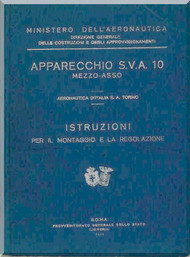 Ansaldo SVA 10 Mezzo Asso Aircraft Maintenance Manual - 1929