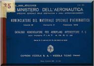 Caproni Vizzola F.5 Aircraft Illustrated Parts Manual,  Catalogo Nomenclatore ( Italian Language ) ,  C.A. 531 , 1941