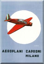 Caproni PS.1 Aircraft Technical Brochure Manual,   ( Italian Language ) ,   1936