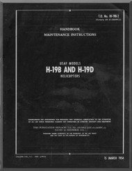 Sikorsky  USAF H-19 B , D  Helicopter  Handbook Maintenance  Instruction Manual   , T.O. 1H-19B-2 , 1954