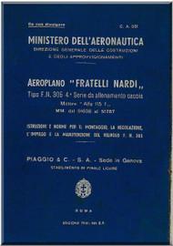 NARDI FN.305 Aircraft Erection and Maintenance Manual,  Istruzioni per il Montaggio  e la Regolazione ( Italian Language ) ,