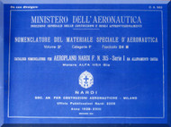 NARDI FN.315 Aircraft Illustrated Parts Catalog  Manual, Catalogo Nomenclatore ( Italian Language )