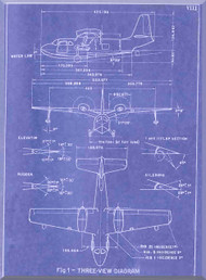 Piaggio P.136 Aircraft  Handbook Manual,   ( English Language )