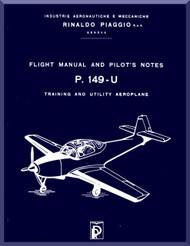 Piaggio P.149 U Aircraft Flight   Manual, Manuale di Pilotaggio ( English Language )