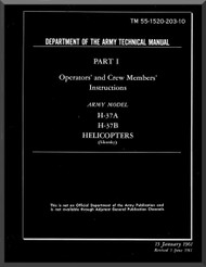 Sikorsky USAF H-37 A B Helicopter Handbook Flight Operating Instructions  TM 55-1520-203-10