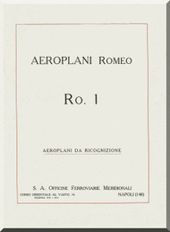 IMAM Romeo Ro.1 Aircraft Technical Manual,  Manuale di descrizione( Italian Language ) ,