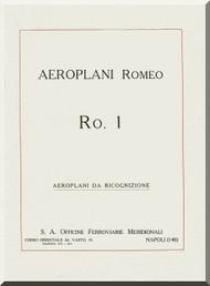 IMAM Romeo Ro.1 Aircraft Technical Manual,  Manuale di descrizione( Italian Language ) ,