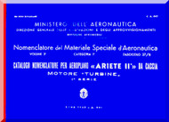Reggiane R-2002 Aircraft Illustrated Parts Catalog  Manual, Catalogo Nomenclatore ( Italian Language ) CA.643 - 1943