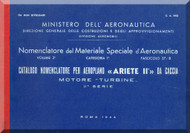 Reggiane R-2002 Aircraft Illustrated Parts Catalog  Manual, Catalogo Nomenclatore ( Italian Language ) CA.643 - 1944