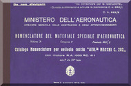 Macchi Mc-202 Aircraft Illustrated Parts Catalog  Manual, Catalogo Nomenclatore ( Italian Language )