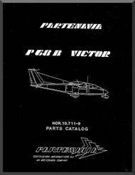 Partenavia  P68  B Victor Aircraft Parts Catalog Manual  ( English Language )