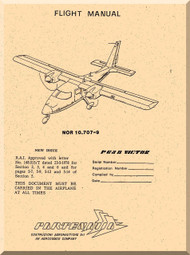 Partenavia  P68 B Victor  Aircraft Flight Manual  ( English Language )