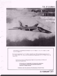 General Dynamics FB-111 A Aircraft Flight Manual, T.O. 1F-111(B)A-1, 1977