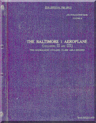 Glenn Martin Baltimore  RAF Descriptive Handbook  ( Volumes One ) Manual Air Publication 2017 A - Vol 1    1941