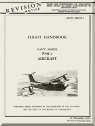 Glenn Martin P5M-1 Marlin Aircraft Flight Manual - 01-35EJB-1 - 1955