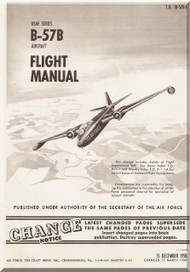 Glenn Martin B-57 Canberra Aircraft Flight  Manual - 1B-57B-1 - 1958