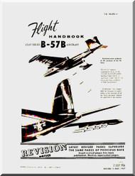 Glenn Martin B-57 B Canberra Aircraft Flight  Manual - 1B-57B-1 - 1956