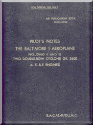 Glenn Martin Baltimore  Pilot Notes Manual Air Publication 2017 A ,   1941