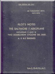 Glenn Martin Baltimore  Pilot Notes Manual Air Publication 2017 A ,   1941