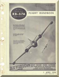 Glenn Martin RB-57 A Canberra Aircraft Flight  Manual - 1B-57(R)A-1 - 1956