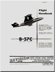 Glenn Martin B-57 C Canberra Aircraft Flight  Manual - 1B-57C-1 - 1956