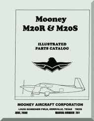 Mooney M.20 R S Aircraft Illustrated  Part Manual