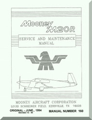 Mooney M.20 R Aircraft Service Maintenance Manual - 1994