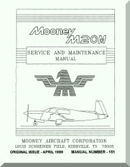 Mooney M.20 M Aircraft Service Maintenance Manual - 1999