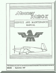 Mooney M.20 K Aircraft Service Maintenance Manual - 1997