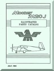 Mooney M.20 J Aircraft Illustrated  Part Manual - 1994